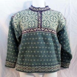 L.L. BEAN USA NORDIC Fair Isles Wool Knit Sweater